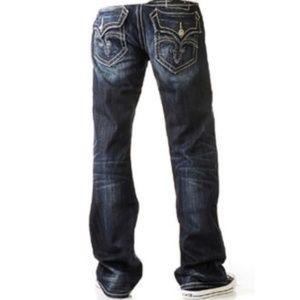 Mens Rock Revival Mick Bootcut Jeans